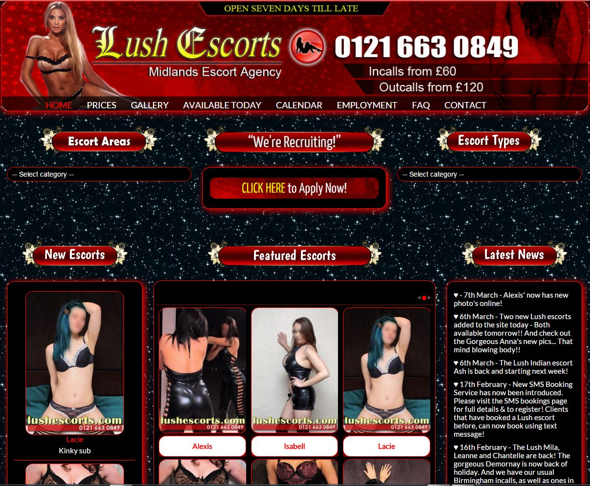 Escort agency Web Design